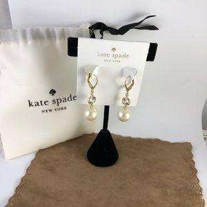 kate spade Jewelry - kate spade Pearl & Crystal Drop Earrings